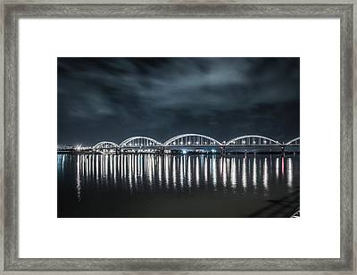 Framed Print featuring the photograph Night Reflections by Ray Congrove