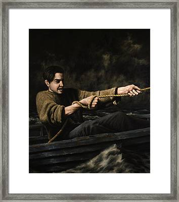 Night Rescue Framed Print by Mark Zelmer