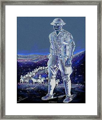 Night Rider  Framed Print by Ray Tapajna