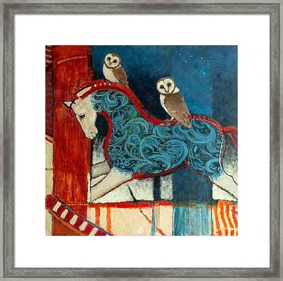 Night Riders Framed Print by Jennifer Croom