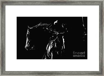 Night Riders Framed Print by Lincoln Rogers