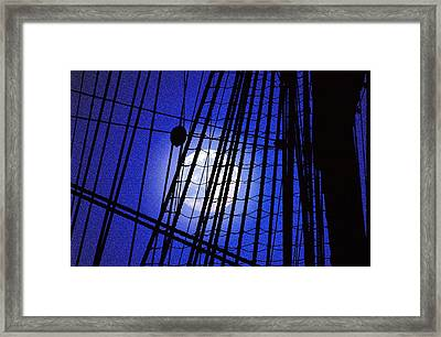 Framed Print featuring the photograph Night Rigging by Mike Flynn