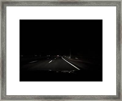 Night Road Framed Print by Anastasia Konn