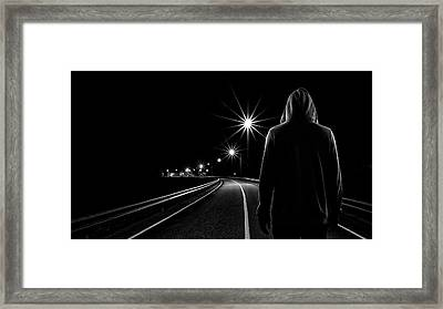 Night Road Framed Print
