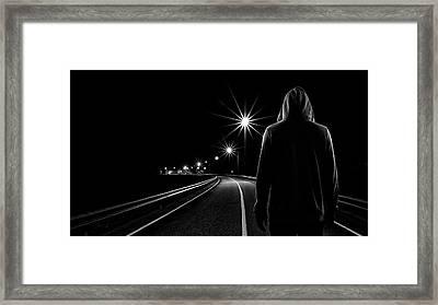 Night Road Framed Print by Patrick Foto