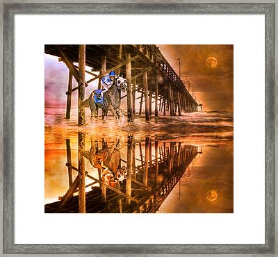 Night Run IIi Patriotic  Framed Print by Betsy Knapp