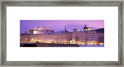 Night Salzburg Austria Framed Print