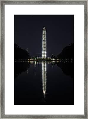 Night Scaffolding Framed Print
