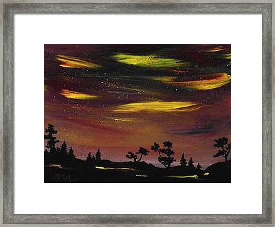 Night Scene Framed Print by Anastasiya Malakhova