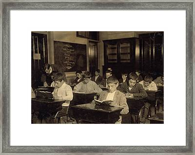 Night School, 1909 Framed Print by Granger