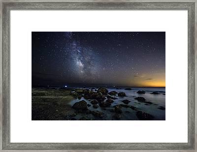 Night Sea Framed Print by Bryan Bzdula