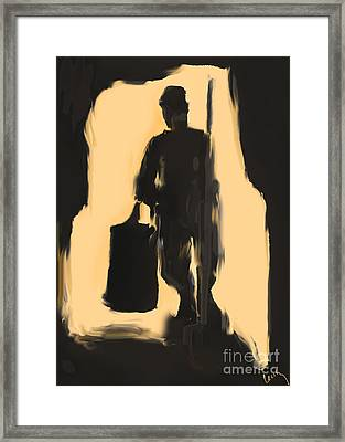 Night Shift Framed Print by Cecily Mitchell