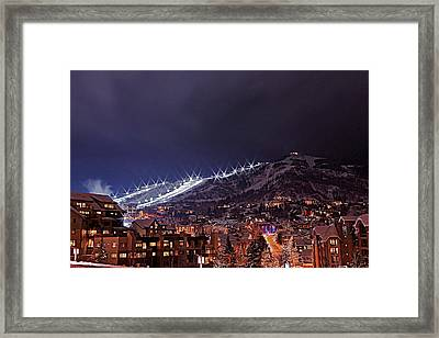 Night Ski Area Framed Print