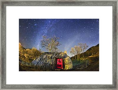 Night Sky And Coaling House Framed Print