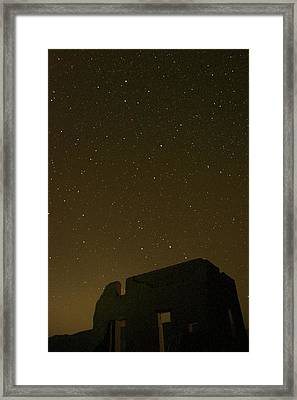 Night Sky Fort Churchill Framed Print