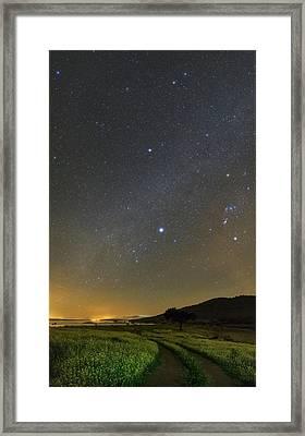 Night Sky In Dark Sky Reserve Framed Print