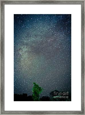 Night Sky In Himalayas Mountain Framed Print