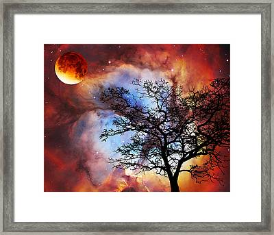 Night Sky Landscape Art By Sharon Cummings Framed Print