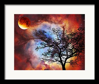 Space Mixed Media Framed Prints