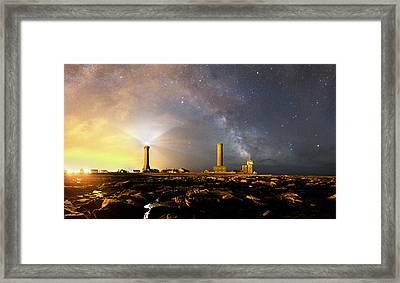 Night Sky Over A Harbour Framed Print