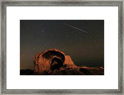 Night Sky Over Ancient Ruins Framed Print