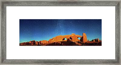 Night Sky Over Arches National Park Framed Print by Walter Pacholka, Astropics