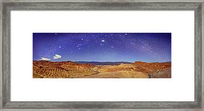 Night Sky Over Death Valley Framed Print