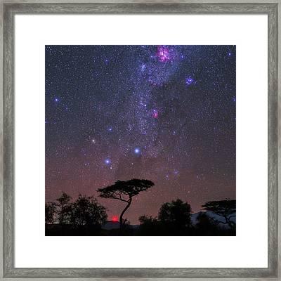 Night Sky Over Kenya Framed Print by Babak Tafreshi