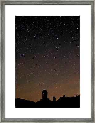 Night Sky Over Kitt Peak Observatory Framed Print by Babak Tafreshi