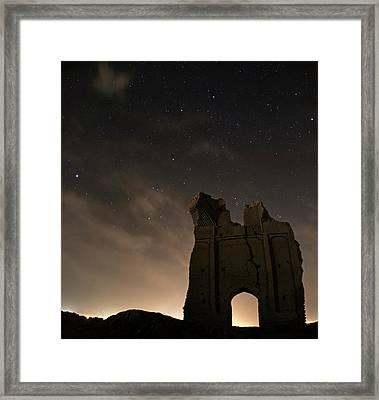 Night Sky Over Sar Yazd Framed Print by Babak Tafreshi