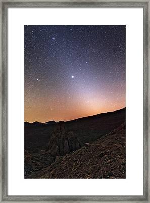 Night Sky Over Teide National Park Framed Print by Babak Tafreshi