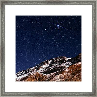 Night Sky Over The Alborz Mountains Framed Print