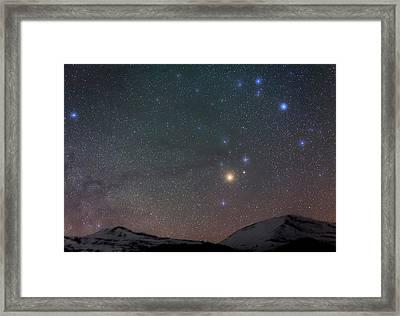 Night Sky Over The Alps Framed Print by Babak Tafreshi