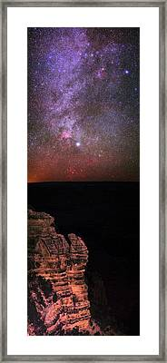 Night Sky Over The Grand Canyon Framed Print by Babak Tafreshi