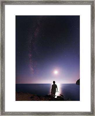 Night Sky Over The Mediterranean Sea Framed Print
