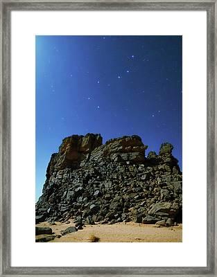 Night Sky Over The Sahara Desert Framed Print by Babak Tafreshi