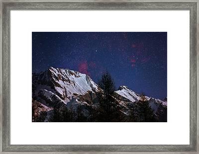 Night Sky Over The Tyrol Alps Framed Print by Babak Tafreshi
