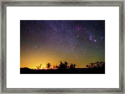 Night Sky Over Tucson Framed Print by Babak Tafreshi
