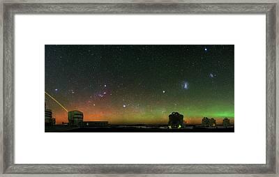 Night Sky Over Vlt Telescopes Framed Print by Babak Tafreshi