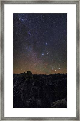 Night Sky Over Yosemite Park Framed Print by Babak Tafreshi