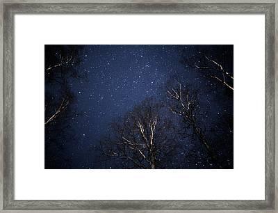 Night Sky Framed Print by Pekka Parviainen/science Photo Library