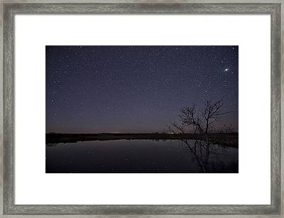 Night Sky Reflection Framed Print
