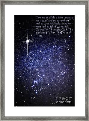 Night Sky Scripture Framed Print