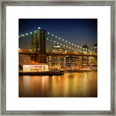 Night-skylines New York City Framed Print by Melanie Viola