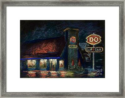Night Spot Framed Print by Bruce Schrader