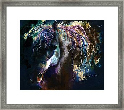 Night Stallion Framed Print