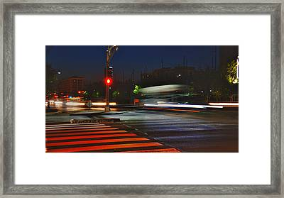 Night Streaks Framed Print by Joann Vitali