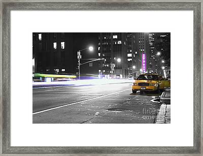 Night Street Framed Print