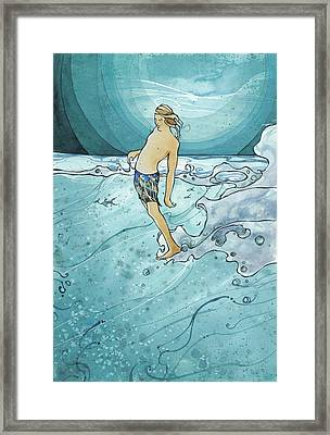 Night Surf Framed Print