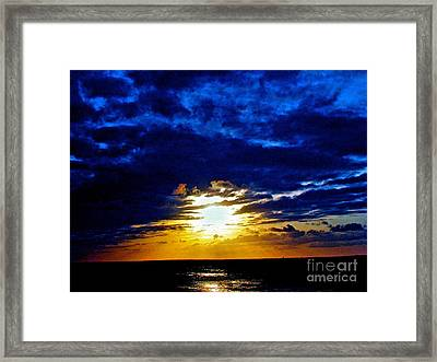 Night Surrounds The Sun Framed Print by Q's House of Art ArtandFinePhotography